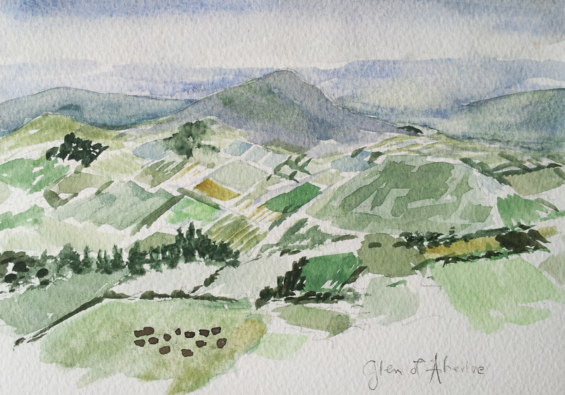Glen of Aherlow watercolor painting by April Lombardi