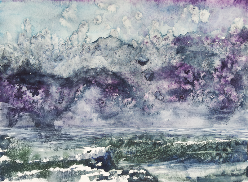 watercolor seascape painting by April Lombardi